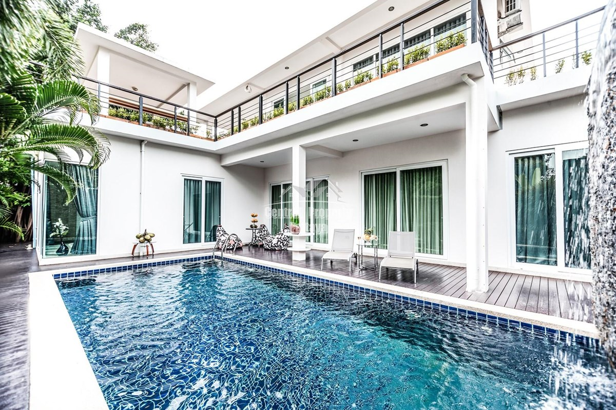 Five Bedroom Five Bathroom Two Storey Pool Villa with Rooftop Terrace for Sale - House -  - PattayaEast, Chonburi